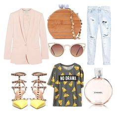 Day look for creative lady by Maria Valuiskis @maryvaluiskis on Polyvore featuring #polyvoreeditorial , #fashion, #style , #StellaMcCartney , #OneTeaspoon, #valentino , #Quay and #Chanel #shopping #stylish #StreetStyle #fashionset #summerstyle
