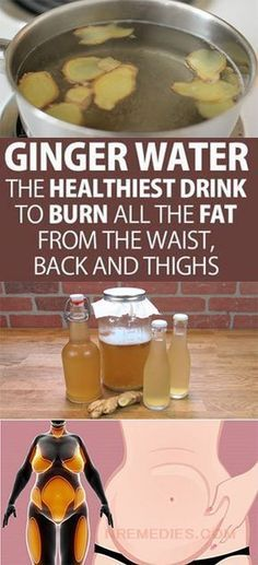 Ginger Water The Healthiest Drink To Burn All The Fat From The Waist, Back And Thighs! Learn all the amazing benefits of ginger water to lose weight and burn the most difficult fats in the body. Healthy Drinks, Healthy Tips, Healthy Recipes, Healthy Detox, Detox Recipes, Easy Detox, Healthy Weight, Alkaline Recipes, Water Recipes