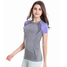 Hot ! Spring Summer Women Short Sleeve  Quick Dry T-shirt Fitness   Tees #Discount #Tees
