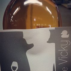 Finally found the right color for Vicky's Rosé Label Printing #live video here http://missvickywine.com/2012/03/vicky-wine-labels-ready-video-of-the-print/  #grey #pantone and #rosé #wine