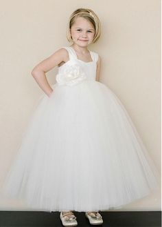 4d8b2a0d26b  49.99  Angelic Ball Gown Ankle-Length Tiered Tulle Flower Girl Dresses