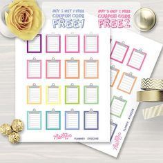 To Do list, Clipboard, printable planner stickers for use with Erin Condren…