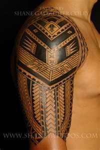 MAORI POLYNESIAN TATTOO Polynesian/Samoan Sleeve Tattoo In Progress