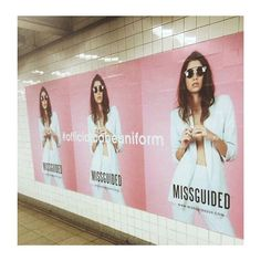 NYC Advertising campaign for live on Billboards and in Subways Stateside NOW by Team.ME Hair and Make up by .ME Aly Steer Model - perfection Cindy Client - Missguided Brand Advertising, Fashion Advertising, Fashion Marketing, Advertising Campaign, Billboards Advertising, Street Marketing, Guerilla Marketing, Ambush Marketing, Media Marketing