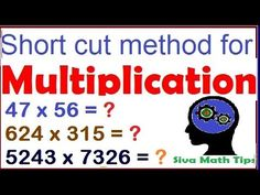 Multiplication tricks for 2 digit, 3 and 4digit numbers | multiplication...