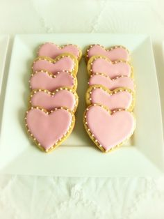 Wedding cookies...but i like them for Valentines day!