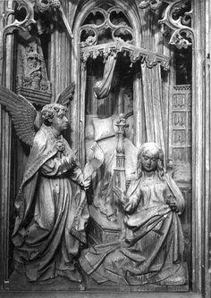 Mariaretabel | Onze-Lieve-Vrouw-Lombeek, Kerk O.L.Vrouw[Onze-lieve-Vrouw-Lombeek], koor | Borreman, Jan (beeldhouwer) (school), Date: 1520 (ca) - 1530 (ca)