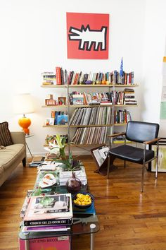 RICHARD HAINES - ILLUSTRATOR AND JI TAN - STUDENT  AT HOME IN BROOKLYN NOVEMBER 11TH 2012