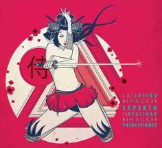⚡Pin-up Samurai⚡ by Jazz Mina, via Behance
