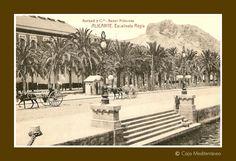 Alicante antiguo, España.. Escalinata Regia