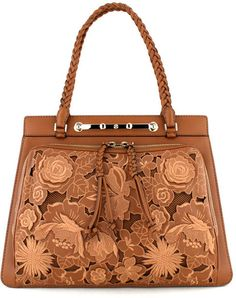 Cognac Demetra Double Handle Handbag
