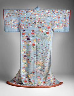 Kimono of kosode type, mid 19th century