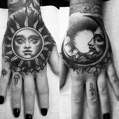 ☾☼mistressbarbie☼☽ life tattoos, hand tattoos, full hand tattoo, new Trendy Tattoos, Black Tattoos, Small Tattoos, Tattoos For Guys, Cool Tattoos, Tatoos, Neue Tattoos, Body Art Tattoos, Tattoo Drawings
