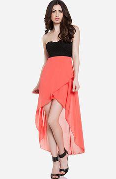 High/Low Sweetheart Dress