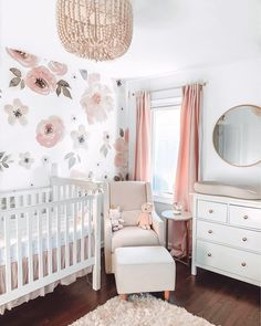 It's the LAST day of our Wallpaper Event. Certain styles (like this dreamy number) aren't included in the s a l e, but they ship 🆓 📸: @diamondgirlsdiary Nursery Room Decor, Project Nursery, Girl Nursery, Girl Room, Girls Bedroom, Nursery Ideas, Baby Room, Bedroom Ideas, Kids Blackout Curtains