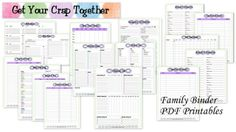 Family Binder Free Printables by GYCT
