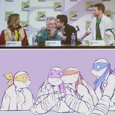 SETH GREEN LOOKS READY TO BEAT PEOPLE. XD •• #TMNT I LOVE THIS SO MUCH