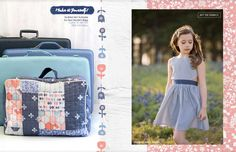 InBlue Lookbook by Art Gallery Fabrics. Fabric designed by Katarina Roccella; Dress made by Because of Brenna; Pier Dress PDF by Lil Luxe Collection #artgalleryfabrics #becauseofbrenna