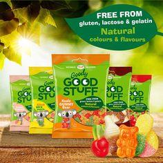 De allergeenvrije snoepjes van Goody Good Stuff zijn o.a. glutenvrij, lactosevrij, sojavrij, eivrij en bevatten alleen natuurlijke kleur- en smaakstoffen.