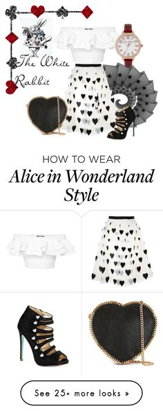 """Most Loved Character - Alice in Wonderland - White Rabbit"" by talk56 on Polyvore featuring Alexander McQueen, Alice + Olivia, STELLA McCARTNEY, Betsey Johnson, aliceinwonderland, polyvorecontest and MostLovedCharacter"