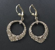 VTG 925 Sterling Silver Marcasite Dangle Drop Earrings Art Deco Antique in Jewelry & Watches, Vintage & Antique Jewelry, Fine | eBay