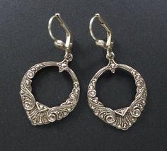 VTG 925 Sterling Silver Marcasite Dangle Drop Earrings Art Deco Antique in Jewelry & Watches, Vintage & Antique Jewelry, Fine | eBay