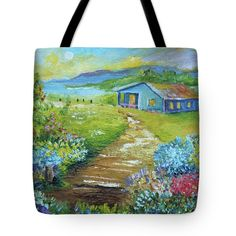 Tote Bag Painting print for sale at www.alicia-maury.fineartamerica.com