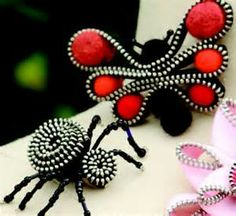 zipper crafts -
