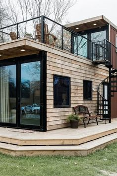 There's Now a Joanna Gaines Inspired Airbnb in Waco Texas Because…Duh There. - There's Now a Joanna Gaines Inspired Airbnb in Waco Texas Because…Duh There's Now a Joanna Ga - Modern Tiny House, Tiny House Cabin, Tiny House Living, Small House Design, Tiny House Plans, Tiny House On Wheels, Living Room, Container Home Designs, Container House Plans