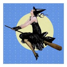 "The ""Modern"" Art Deco Witch Poster - pinned from www.zazzle.com"