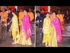 Karishma Kapoor & Kareena Kapoor at Mukesh Ambani's Ganesh Chaturthi Party at Antilla. Kareena Kapoor, Ganesh, Interview, Photoshoot, Party, Youtube, Photo Shoot, Parties, Youtubers