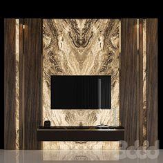 Tv Unit Design, Tv Wall Design, Tv Feature Wall, 3d Tvs, Tv Sets, Mounted Tv, Furniture Design, The Unit, Contemporary