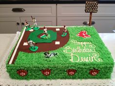 Red Sox Baseball Field Cake