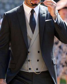Double Breasted Vest, David Beckham, Dapper, Suit Jacket, Mens Fashion, Blazer, Suits, Jackets, Instagram
