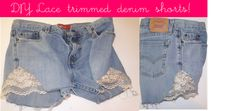 Lace trimmed summer shorts (no sew)!