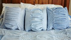 Sew an easy Ruched Pillow Cover in Cuddle! http://shannonfabrics.com/blog/2015/09/18/sew-a-ruched-pillow-cover-in-cuddle/