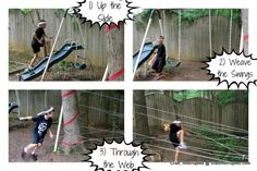 Craft, Interrupted: Ninjago / Ninja Birthday Party - great obstacle course game ideas