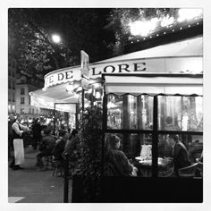 The Cafe de Flore tonight, Paris, France