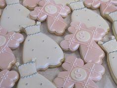 First Communion Cookies, Christening Cookies, Baptism Cookies, Cross and Dress Cookies