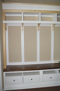 Ikea hack-just like this if I ever have a mud room, cheaper than completely custom build