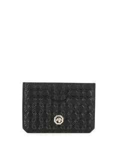 Stefano+Ricci+Stamped+Leather+Card+Case+Black+|+Bag