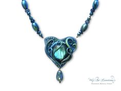 Labradorite and Polymer Clay, Handmade Jewelry by WizArt Creations: WizArtCreations.etsy.com