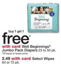 Walgreens: Well Beginnings Pañales a sólo $3.75 el Paquete! Imprime tu cupón OTRA VEZ!!