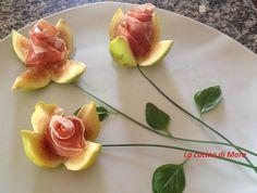 Rose di fichi con prosciutto crudo