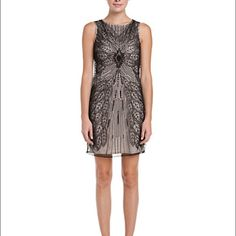 Susana Monaco Suzy Black & Nude Embellished Dress Hand-embroidered beadwork sewn onto sheer black fabric. Nude-colored satin is layered underneath. Chic & sexy dress perfect for any cocktail party. Only worn once. Button bag with extra beading and some tags included. Also available on Ⓜ️erc. Susana Monaco Dresses