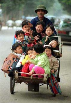 Another day in Vietnam going to school.