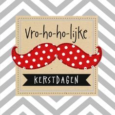 Vro-ho-ho-lijke kerstdagen! #hallmark #kerst #xmas #moustache #Kerst