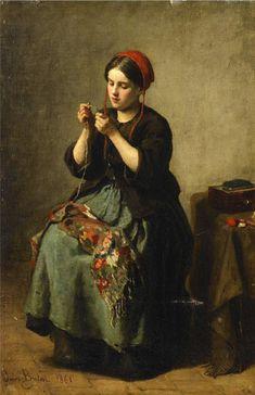 Jules Breton - kolybanov