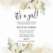 Pastel Green and Gold Custom Baby Shower Invite for a girl!