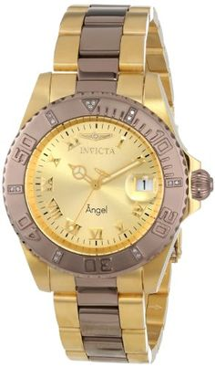 Invicta Womens INVICTA14728 Angel Analog Display Swiss Quartz Two Tone Watch *** Be sure to check out this awesome product.
